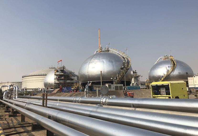 Zbiorniki ropy należące do koncernu Saudi Aramco