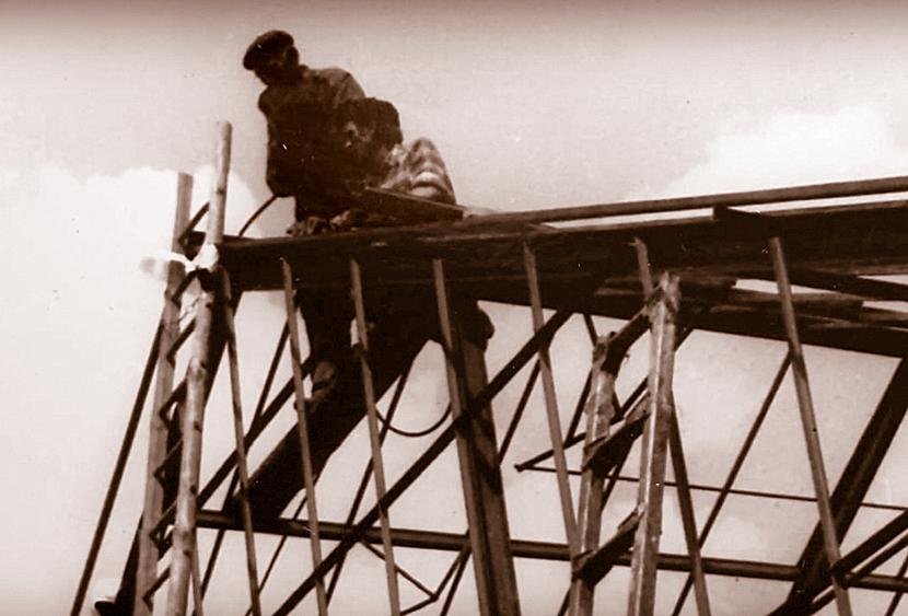 Budowa szklarni w 1977 r.