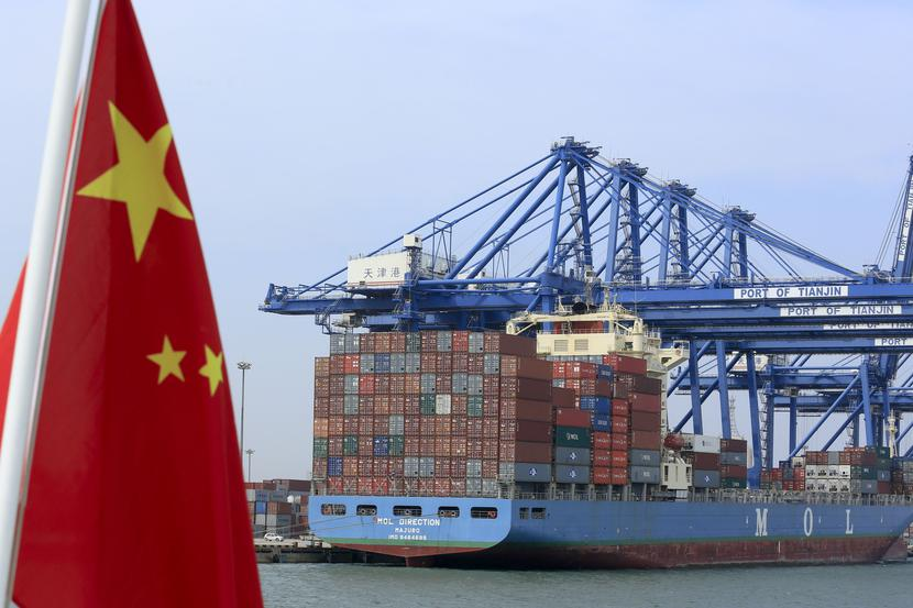 Port przeładunkowy w Chinach