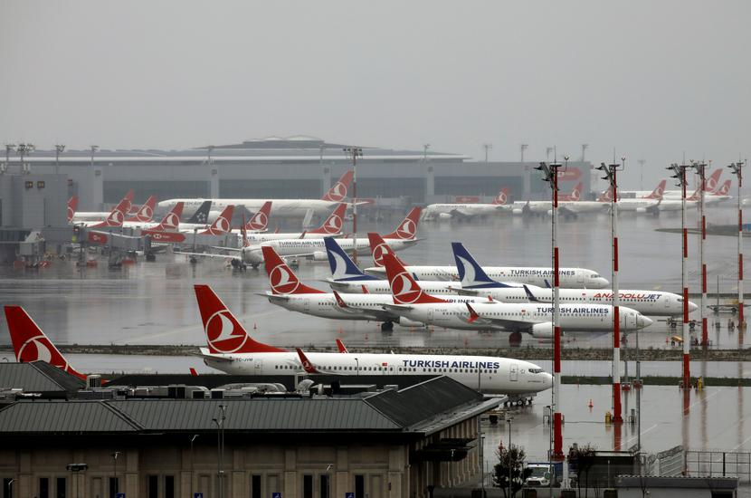 Samoloty linii Turkish Airlines