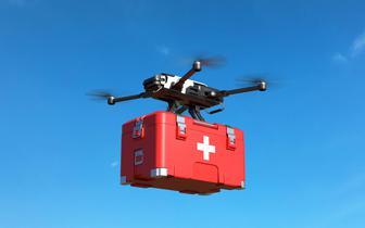 Nad jednym z polskich miast będzie latał dron z defibrylatorem. Na razie testowo
