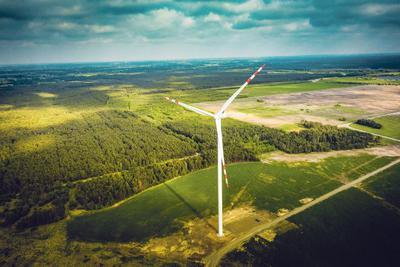 Siłownia wiatrowa w miejscowości Przykona należąca do spółki Energa z Grupy ORLEN. [FOT. ARC]