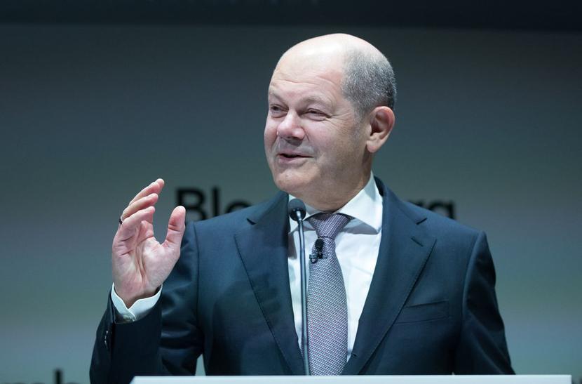 Olaf Scholz, fot. Bloomberg