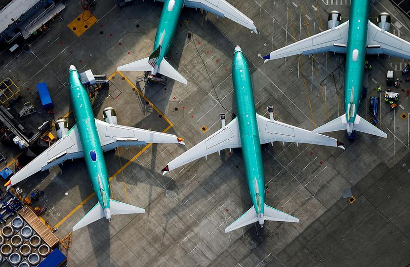 Boeing 737 Max w fabryce Boeinga w Renton w stanie Waszyngton, USA