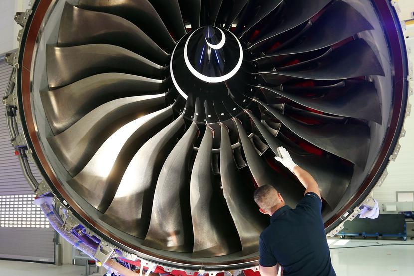 Jeden z silników produkowanych przez koncern Rolls-Royce Fot. Bloomberg
