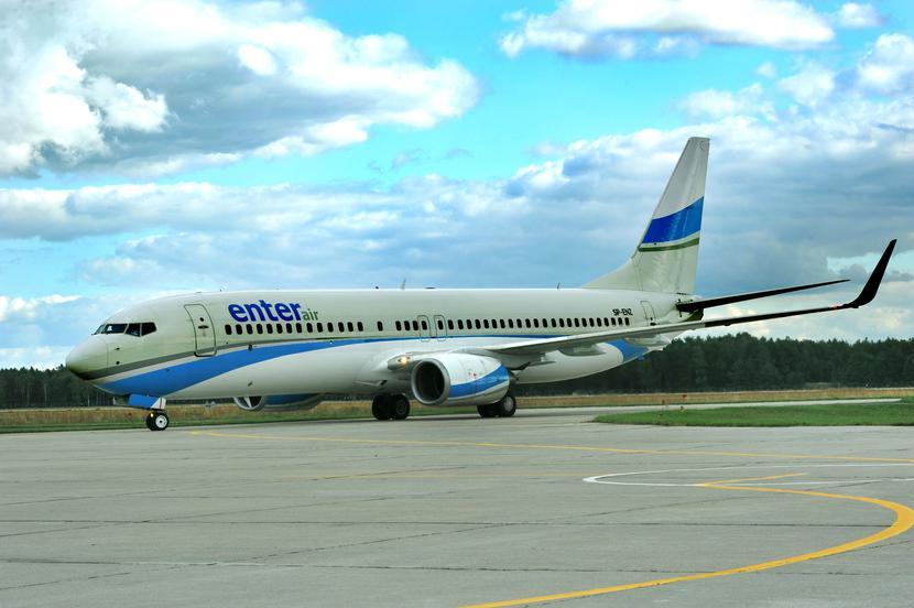 Jeden z samolotów czarterowanych przez Enter Air