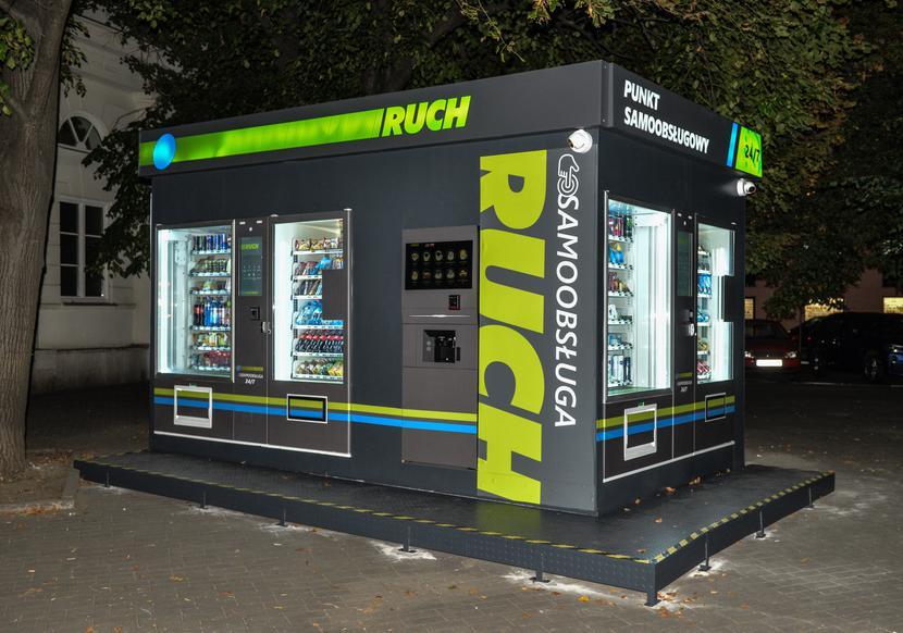 Pierwszy w Polsce całodobowy samoobsługowy kiosk RUCH-u