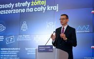 Premier Morawiecki: Rozszerzamy strefę żółtą na obszar całego kraju