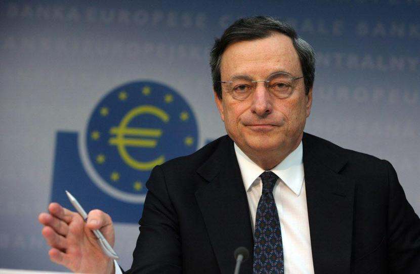 Mario Draghi, fot. Bloomberg