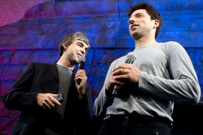 Larry Page i Sergey Brin, fot. Bloomberg