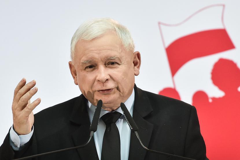 Jarosław Kaczyński, fot. Łukasz Dejnarowicz / Forum