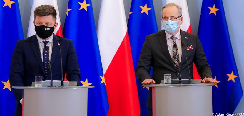 Ministrowie Michał Dworczyk i Adam Niedzielski