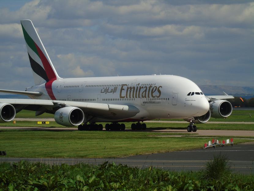 Samolot linii lotniczej Emirates