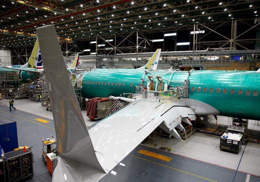 Boeing 737 Max w fabryce Boeinga w Renton w stanie Waszyngtonfot. REUTERS/Lindsey Wasson/File Photo/Forum