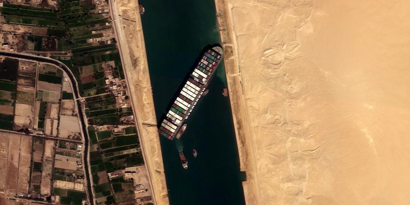 Kanał Sueski, kontenerowiec Ever Given