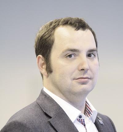 Lek. Michał Bulsa, członek prezydium Naczelnej Rady Lekarskiej, przewodniczący Komisji ds. Młodych Lekarzy NRL