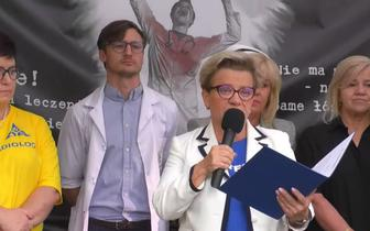 """Rozmowy medyków z MZ. Możliwe zaostrzenie protestu, """"taki plan od początku"""""""