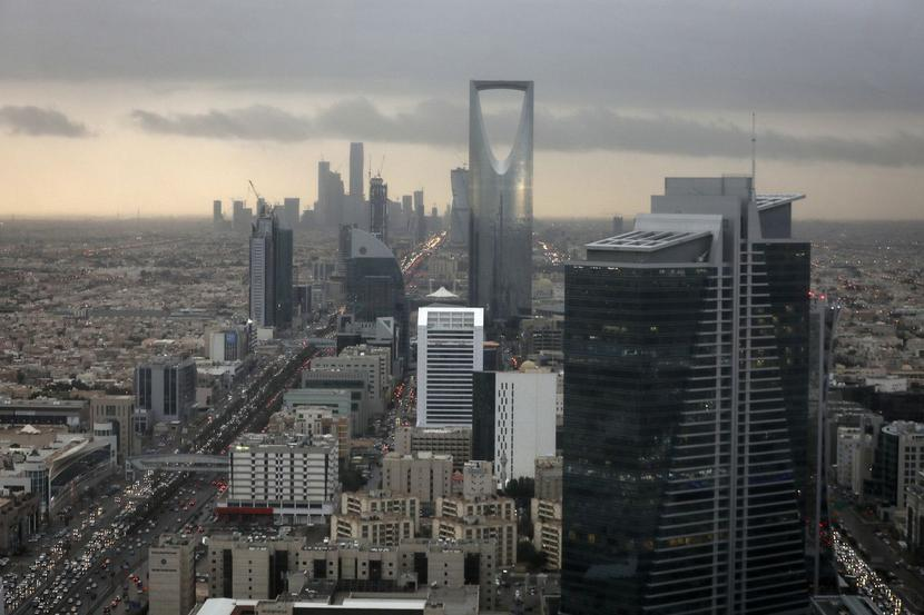 Widok na Rijad, stolicę Arabii Saudyjskiej,