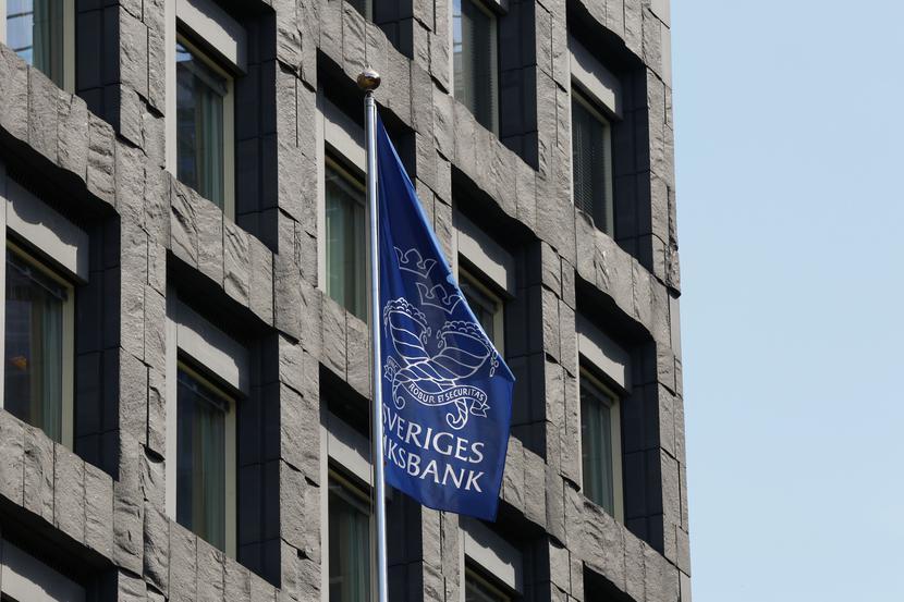 Centrala szwedzkiego banku centralnego (Riksbank) w Sztokholmie