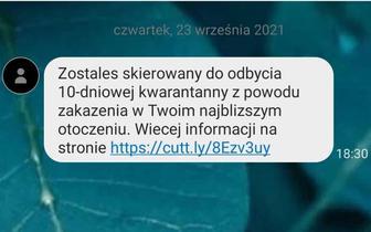 GIS ostrzega przed fałszywym SMS-em o kwarantannie. Zobacz, jak wygląda