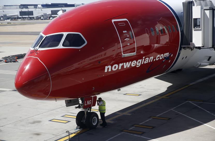 Jeden z samolotów linii Norwegian Air