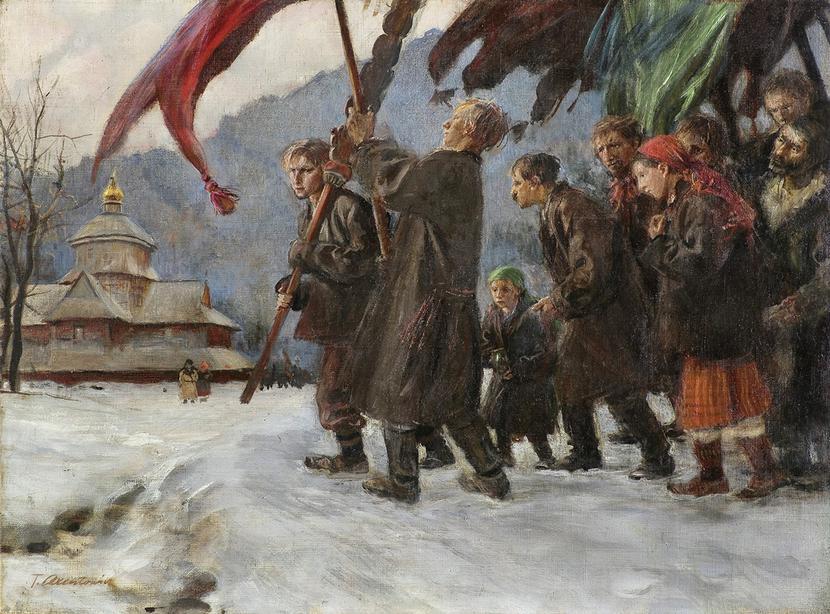 "Teodor Axentowicz, ""Procesja huculska"":"