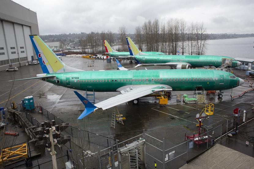 Samoloty Boeing 737 Max w fabryce koncernu w Renton w stanie Waszyngton