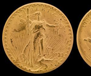 Złota 20-dolarówka sprzedana zarekordową kwotę