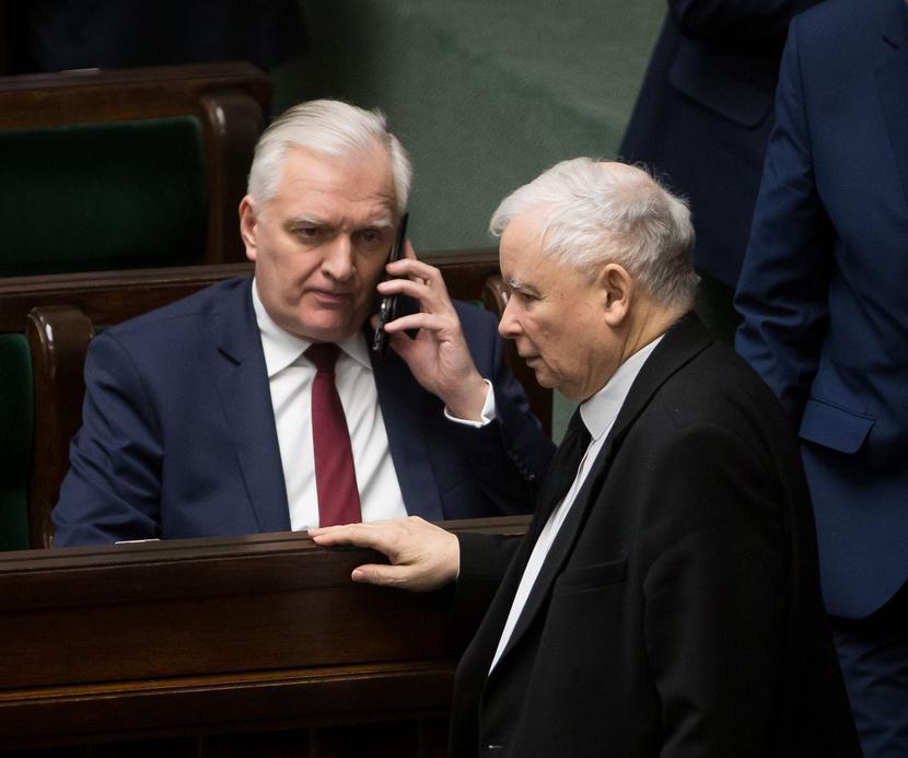 Jarosław Gowin, Jarosław Kaczyński, fot. Mateusz Włodarczyk - Forum